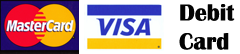 Visa, Debit, Master Card